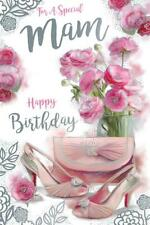 To A Special Mam Flowers Bag & Shoes Design Birthday Card Lovely Verse