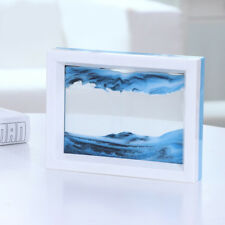 Moving Liquid Sand Glass Picture Photo Frame Home Decor 3D Scenery Painting Gift