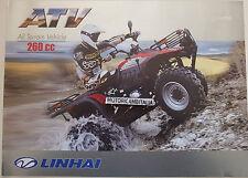 LINAHI ATV 260CC QUAD CATALOGO  DEPLIANT  CATALOGUE  BROCHURE RECLAME PROSPEKT