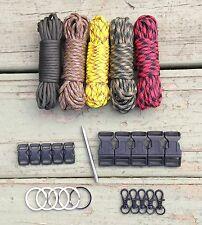 100 ft Autumn Camo Paracord Kit XL+ w/10 Buckles, 5 Key Rings, 5 Swivels & Fid