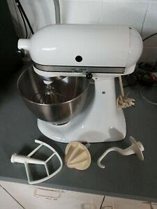 KitchenAid Classic 4.5-Quart Tilt Head Stand Mixer - White LIGHTLY Used