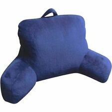 Plush Backrest Pillow Bed Cushion Support Reading Back Rest Arms Chair Blue