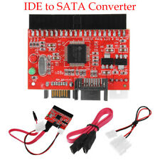 IDE TO SATA Two-way Interchange Card Hard Drive HDD Adapter Converter Cable Red