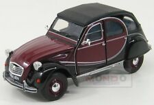 Citroen 2Cv Charleston 1982 Yellow Black WELLY 1:24 WE24009BORD