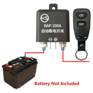 Smart Trennrelais LED 12V Auto Batterie Trennschalter Fernbedienung Universal 1X