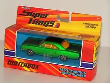 MATCHBOX CLASSIC SUPER KINGS K-207 1970 PLYMOUTH ROAD RUNNER CASE FRESH NEW 2005