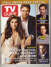 KATE WALSH TIM DALY TV Guide Magazine 8/27/07 WILLIAM PETERSEN HOUSE SURVIVOR