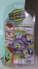 Spongebob Squarepants LCD Watch Plus interchangeable molded tops New