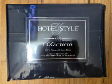Hotel Style King 600 Thread Count Sheet Set 100% Cotton w/ Sateen Weave Black