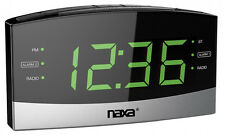 Naxa Bluetooth USB Charge Port Easy Read Dual Alarm Clock NRC-181