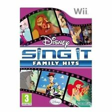 NINTENDO WII DISNEY SING IT FAMILY HITS: BIG Box MICROFONO