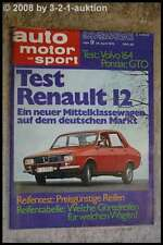 AMS Auto Motor Sport 9/70 Pontiac GTO Fiat Dino 2,4 Volvo 164 Fiat 124 S