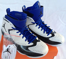 new Air Jordan 2012 E 508319-181 White Black Blue Basketball Shoes Men's 9 NBA