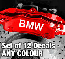 BMW Quality Brake Caliper Decals Stickers - ANY COLOUR