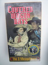 """The 3 Mesquiteers in """"Covered Wagon Days"""" with Robert Livingston, VHS Movie MIB"""