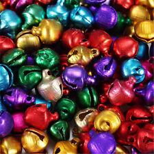 LOT de 200 CLOCHETTES GRELOTS BELLS 6x8 mm Couleur perles fimo noël carnaval