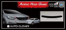 Acrylic Bonnet Hood Guard Protector Deflector Black for Hyundai Elantra 2011~16