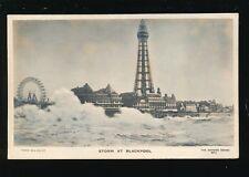 Lancashire Lancs BLACKPOOL Storm novelty Bas-Relief Photo used 1906 PPC