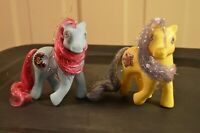 My Little Pony G1 Vintage MLP Princess Royal Blue & Starburst Tinsel Hair