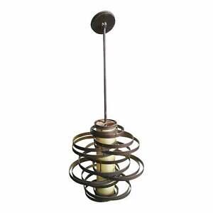 "Corbett Lighting Vertigo Pendant 24"" Bronze with Gold Leaf Finish Style 113-43"