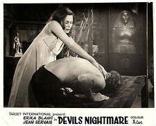 DEVIL'S NIGHTMARE ORIGINAL LOBBY CARD ERIKA BLANC La plus longue nuit du diable