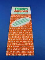 PILGRIM AIRLINES SYSTEM TIMETABLE OCTOBER 1982 F-27 SERVICE NEW HAVEN GROTON