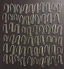 """60 Metal Vintage Curtain Drapery Hooks 1"""" & 1 1/2"""""""