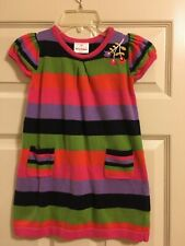 Hanna Andersson Wide Stripe Sweater Dress Girls Size 100 4