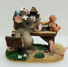 Fitz Floyd Charming Tails Friendship Is Always A Bargain Mouse Gift Friends