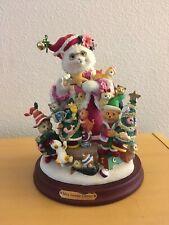 """Danbury Mint Mrs. Santa Claws Cat Figurine w/Box - apx 10"""" tall by Bill Bell"""