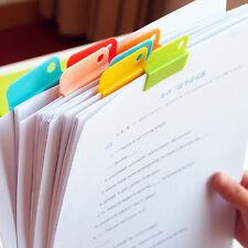 6pcs Memo Clip Creative Stationery Clips papers clip folder labels clips DIY TSU