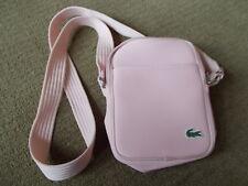 Lacoste Small Pink Vertical Camera Crossbody Flight Bag