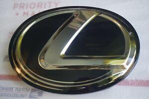 LEXUS NEW BLACK FRONT EMBLEM IS250 GS350 RX350 Grille Grill Logo Badge F sport