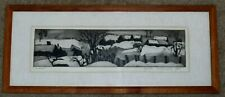 "JACK BILANDER SIGNED ETCHING OF LANDSCAPE TITLED ""WINTER"""