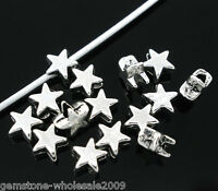 200PCS Wholesale Lots Silver Tone Charm Lovely Jewelry Spacer Beads 6x6mm Hot.