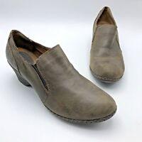 BOC Born Concept BC6731 Women Brown Leather Slip On Shoe SZ 11 EUR 43 Pre Owned