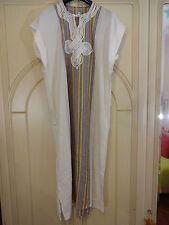 vestito abito caftano marocchio bianco originale NUOVO mai usato