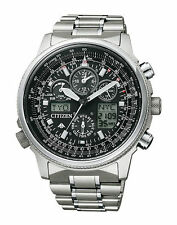Citizen Eco-Drive Promaster Sky JY8020-52E 45mm Silber Stainless Steel Gehäuse