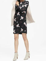 NWT Banana Republic New $139 Women Floral Ruffle-Cuff Dress Size 00P,0P,0,2P,2