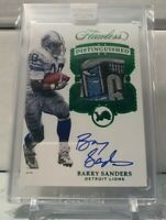 2017 Flawless Football Barry Sanders Patch/ Auto 1/2