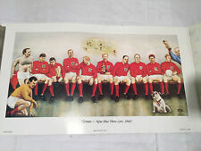 WORLD CUP 1966 PRINT OF FOOTBALL HEROES IN THE CHANGING ROOM - LMT
