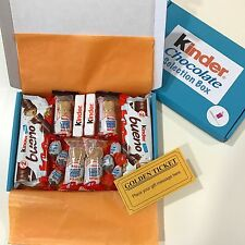 Kinder Chocolate Selection Treat Hamper Box - Handmade Gift