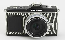 Camera Leather decoration sticker for Olympus E-P1/EP2   Zebra type 2777