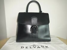 Delvaux Brillant Gm Vintage Black Leather Tote Very Good Condition