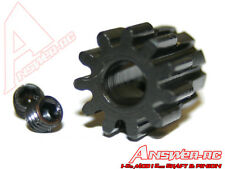 Answer-RC 9 13t 1/8th Pinion 5mm Bore Mod 1 Large Grub x 2 + Wrench ANSCBE013