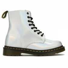 Dr. Martens 8-Eyelet 1460 Pascal IM Leather Metallic Silver UK Size 5 BNIB