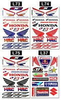 Honda Wings Logo Vinyl Stickers Sheet Emblem Motorcycle Racing Graphics Decals