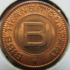 1956 Bibb Transit Company Macon, GA Transit Bus Token - Georgia