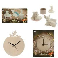 Disney Store Bambi Limited Edition Clock & Desk Accessory Set Thumper Flower