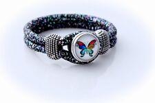 Colourful Butterfly Snap Button Bracelet